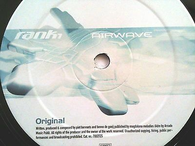 "Rank 1 - Airwave - Sought After Trance / Prog House Ibiza 12"" Vinyl Record Dj"