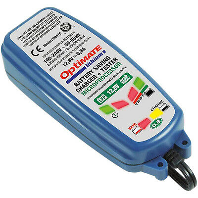 TecMate OptiMate Lithium 0.8A Battery Optimiser Charger (SAE)
