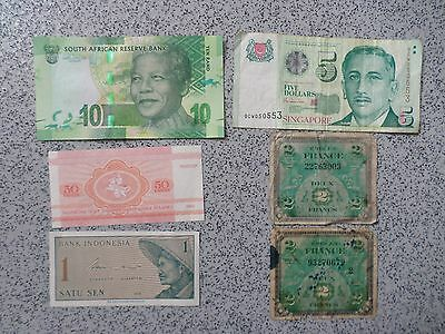 6 World Bank Notes (BARGAIN)