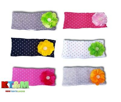 New Baby Toddler Girl Kids Bead Flower Spot Turban Headband Hair Band One Size