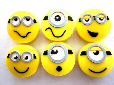 6 Minions Tennis Vibration Shock Absorber Dampeners Kevin Stuart Despicable Me