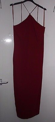 Quality Red Long Dress - Size UK 14