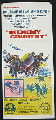 In Enemy Country (1968) Australian Daybill
