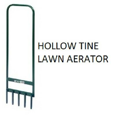 Hollow Tine 5 Spike Lawn Aerator for Airing Grass Soil Earth - Manual Strong