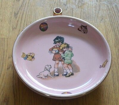 "Vintage 1950s French ""KEEP WARM DISH"" Nursery Ware"