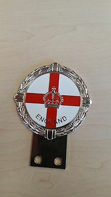 England St George Car Badge with Crown in centre