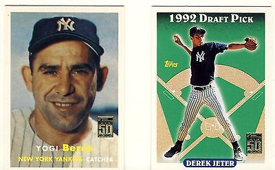 """2001 Topps Baseball complete set of 50 cards """"Through the Years"""" fantastic set!!"""