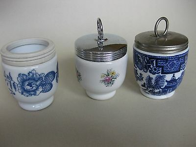 3 Royal Worcester EGG CODDLERS with Rare Patterns