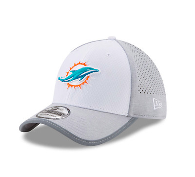 New Era 39Thirty Nfl White-Grey Training Camp Miami Dolphins