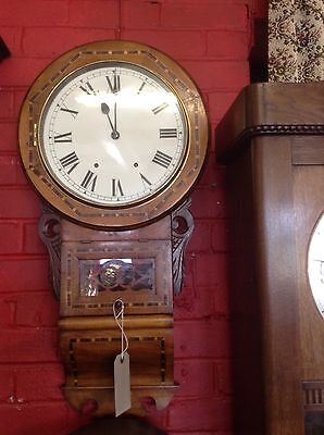 ***REDUCED*** Beautiful Victorian Inlaid Case Wall Clock