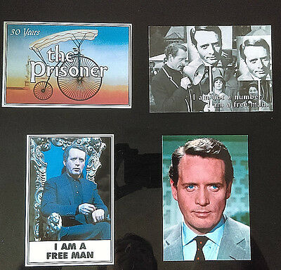 ITC TV show THE PRISONER Selection of 4 Postcards I AM A FREE MAN - Number 6