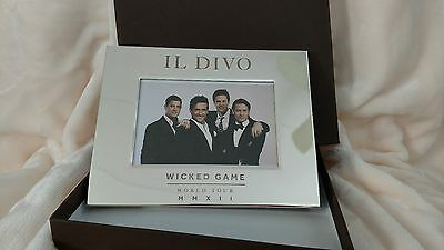 IL DIVO Wicked Game World Tour 2012 Mirrored Silver Photo Frame