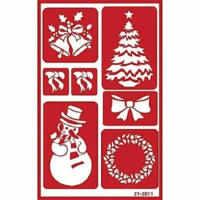 Armour Self Stick Reusable Over n Over Glass Etching Stencil ~ Christmas Holiday