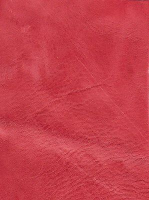 40 sq ft pink / red distressed Leather Hide ( 2ND) for Upholstery & Leathergoods