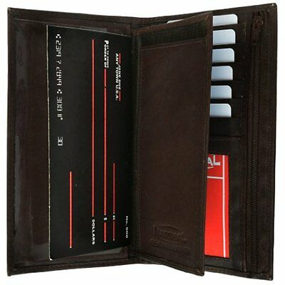 Genuine Leather Wallets Checkbook Cover Wallet Organizer with Credit Card Holder