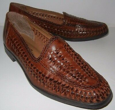 Romano Women's Slip On Flat Brown Casual Leather Shoe Size 6.5 M Made in Brazil