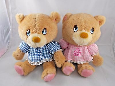 Mattel Emotions My Cutie Bear Pink Blue Lot of 2 Boy Girl