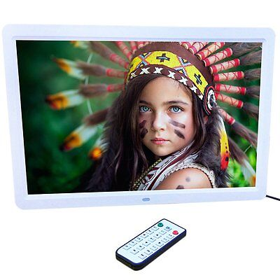 New 15 inch HD  LED Digital Photo Picture Frame MP3 MP4 Movie+Remote Control MU
