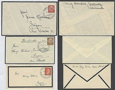Germany - Lot of 3 Mourning cover C9037