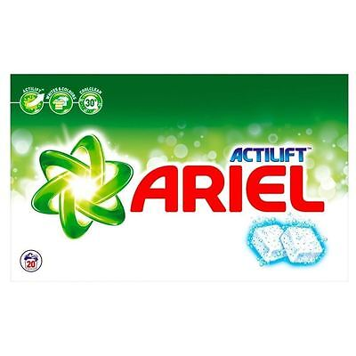 Ariel Regular Biological Actilift Washing Detergent Cleaning Tablets - 20 Washes