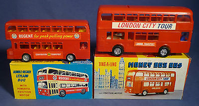 NIFC Money Box Plastic London Doubledecker Leyland Bus Spardose Hong Kong B171