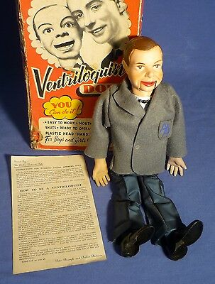 PALITOY Peter Brough's Archie Andrews Ventriloquist 50's Doll boxed OVP D171