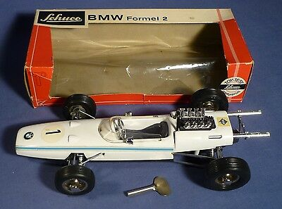SCHUCO 1072 BMW Formel 2 Rennwagen OVP NMIB 70's vintage Tin Toy Racing Car B171