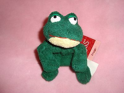 "Russ Luv Pets Frog named Frugs 6.5"" long Plush & Beans"