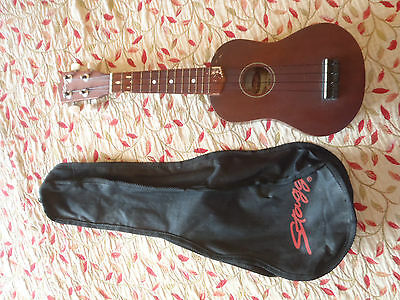 Soprano Ukelele by Stagg with gig bag