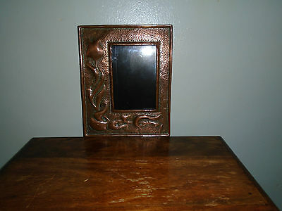 A Superb  Art Nouveau Copper Picture Frame.