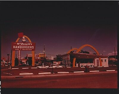 RARE ORIGINAL VINTAGE COLOR McDONALDS NEGATIVE 1960/1970's