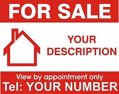 Property For Sale sign board. Personalised x 1
