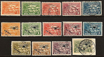 NEW GUINEA KGV 1925-28 mint and used and 1931 air mails, used.