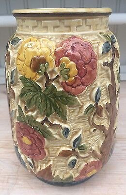 Stunning Hand Painted Indian Tree Vase By H J Wood