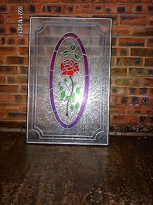 Double-glazed, Leaded , Stained Glass Door Panel