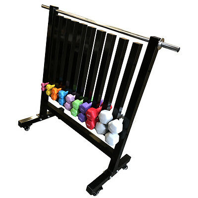 Fxr Sports Neoprene Vinyl Dumbbell Commercial Gym Storage Rack With Wheels