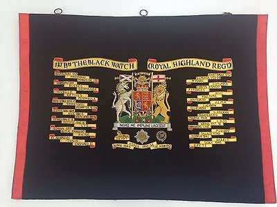 1st Bn. The Black Watch Royal Highlanders Regiment Banner.