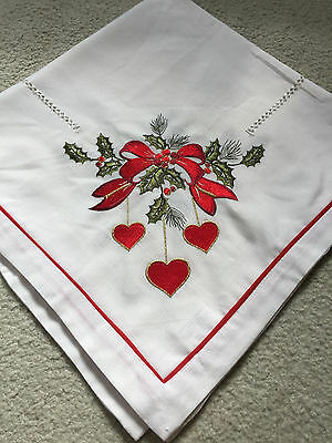 Embroidered tablecloth-- Christmas pattern