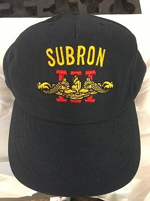 SUBRON III -  Submarine Squadron 3 -US NAVY HAT/COVER CAP - BLUE NEW NEVER WORN