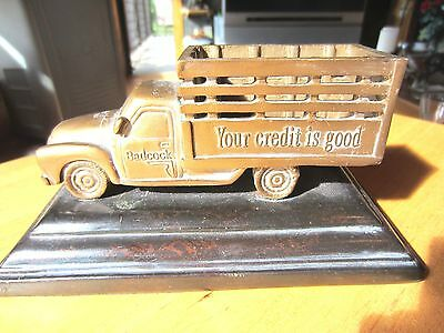 "Badcock Furniture  100th anniversary  Delivery Truck, 7"" cast bronze"