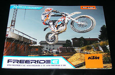 KTM Freeride Brochure 2015 - E-XC E-SX E-SM - electric off-road motorcycles