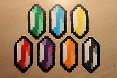 Rupees Pixel Art Bead Sprites from the Legend of Zelda Series