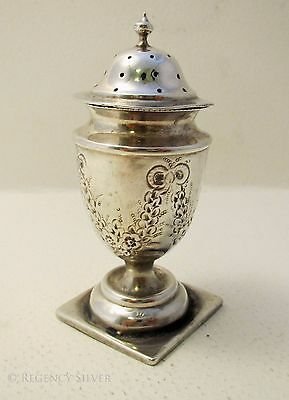 Victorian Antique Sterling Silver English HM Pepper Shaker Pot Pepperette Caster