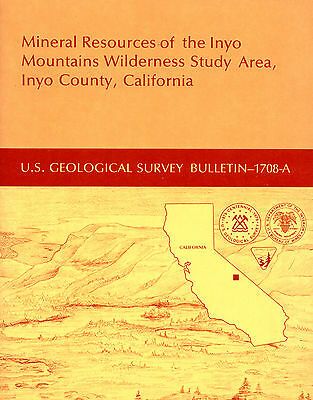Gold mines near Lone Pine, Calif, Owens Valley, Inyo Mtns, SCARCE 1st ed, MAPS !