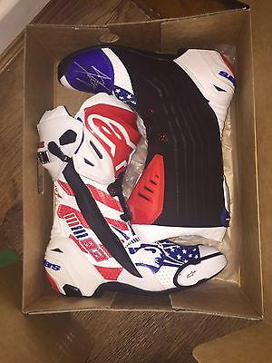 Signed Marc Marquez Alpinestars Supertech Ltd Edt Boots.rare.exact Proof.