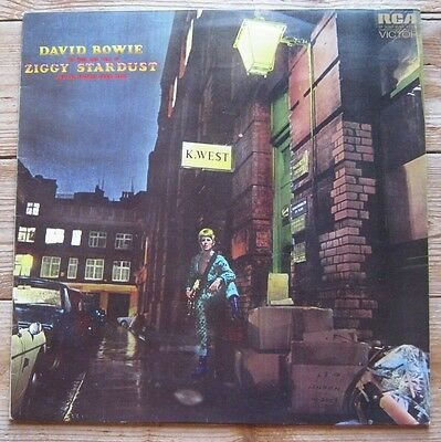 David Bowie Ziggy Stardust . Vinyl Record LP Rare UK pressing , NR MINT