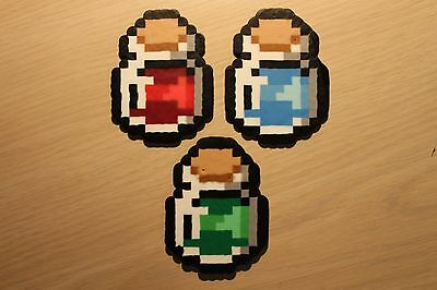 Potion Pixel Art Bead Sprites from the Legend of Zelda Series