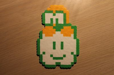 Lakitu Pixel Art Bead Sprite from Super Mario Bros for NES