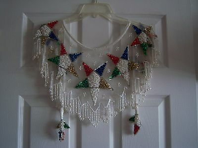 OES Eastern Star Womens Beaded Sequined Shawl - A beauty!