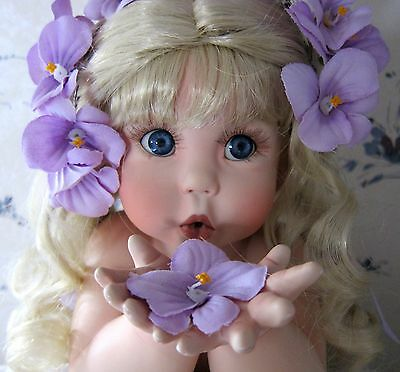 VIOLET Artist Doll RARE LE #'d signed w/ Papers Cindy Rolfe MINT SEE ALL PHOTOS